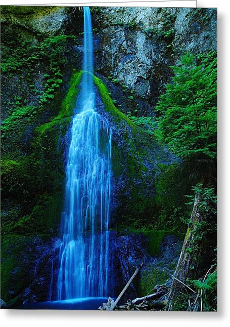 Green Foliage Greeting Cards - Myamere Falls  Greeting Card by Jeff  Swan