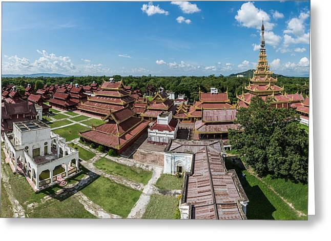 Asien Greeting Cards - Myanmar - Mandalay Kings Palace Greeting Card by Jean Claude Castor