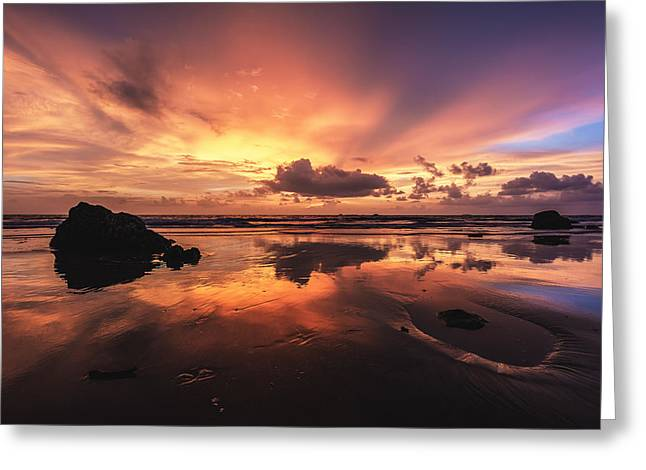 Asien Greeting Cards - Myanmar - Ngwe Saung Beach Greeting Card by Jean Claude Castor