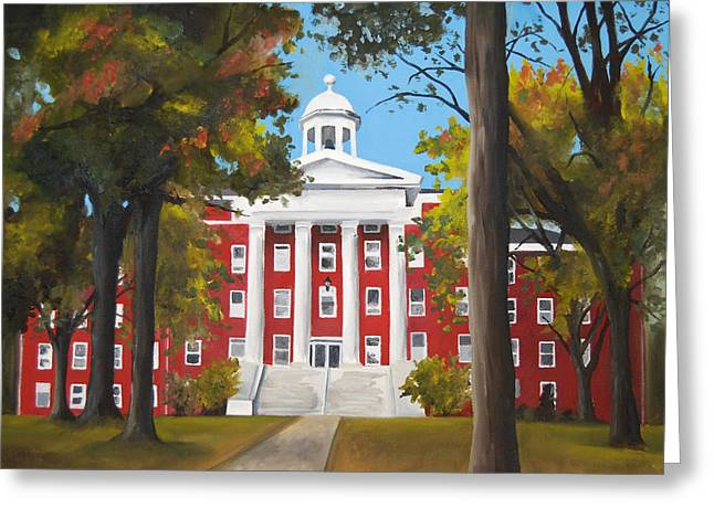 Cupola Paintings Greeting Cards - Myers Hall Greeting Card by Jacqueline DelBrocco