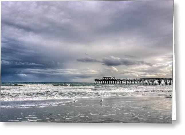 Myrtle Beach Fishing Pier Greeting Card by Rob Sellers