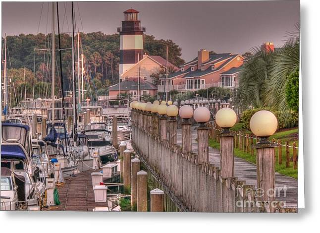 Myrtle Greeting Cards - Myrtle Beach Lighthouse Greeting Card by David Bearden
