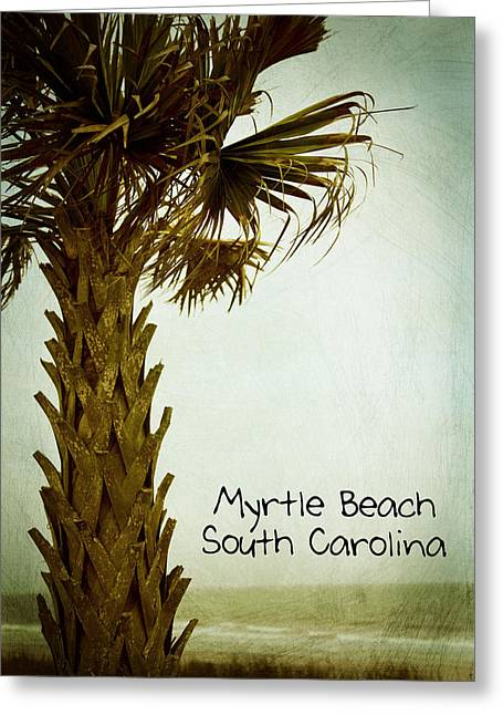 Ecru Greeting Cards - Myrtle Beach SC Greeting Card by Karol  Livote
