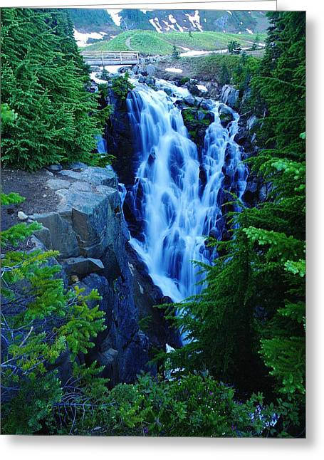 Myrtle Falls Greeting Card by Jeff Swan
