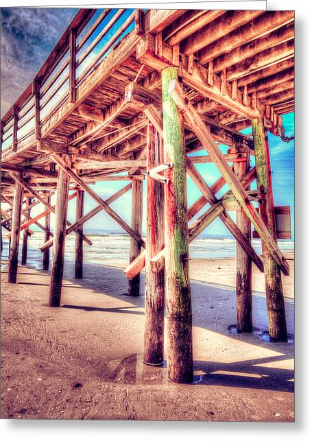 Hdr Landscape Mixed Media Greeting Cards - Myrtle Pier in color Greeting Card by Mark Hazelton