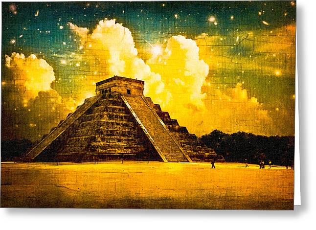 El Castillo Greeting Cards - Mysteries Of The Ancient Maya - Chichen Itza Greeting Card by Mark Tisdale