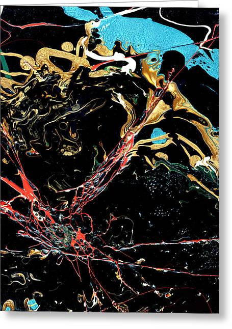 Mysteries Of The Sea A  Abstract Greeting Card by John Samsen