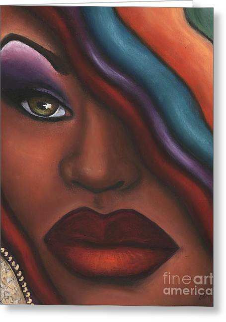Red Lips Pastels Greeting Cards - Mysterioso too Greeting Card by Alga Washington