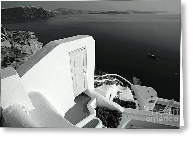 Sea View Greeting Cards - Mysterious door Greeting Card by Aiolos Greek Collections