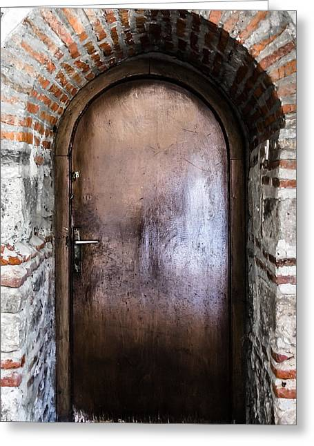 Dungeons Greeting Cards - Mysterious door Greeting Card by Sotiris Filippou