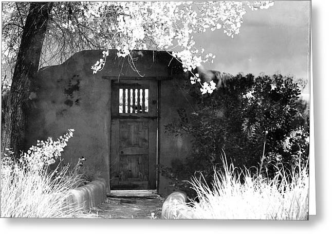 Southwest Gate Print Greeting Cards - Mysterious Gate Greeting Card by Roselynne Broussard