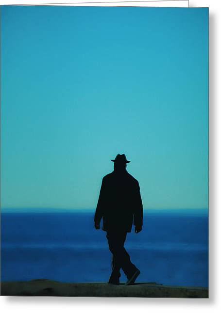 Mysterious Man Greeting Card by Karol Livote