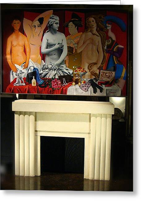 Modigliani Photographs Greeting Cards - Mysterious Mantle Greeting Card by Ira Shander