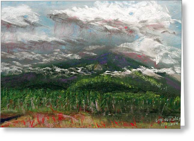 Mt Pastels Greeting Cards - Mysterious Mountain Greeting Card by Stephen Raley