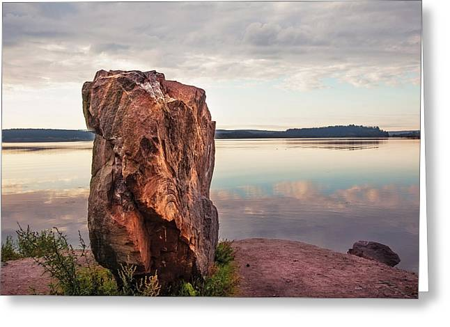 Mysterious Stone. Frontier In Between Old And New World Greeting Card by Jenny Rainbow