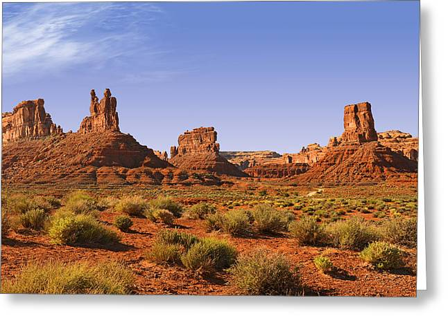 Mysterious Valley Of The Gods Greeting Card by Christine Till