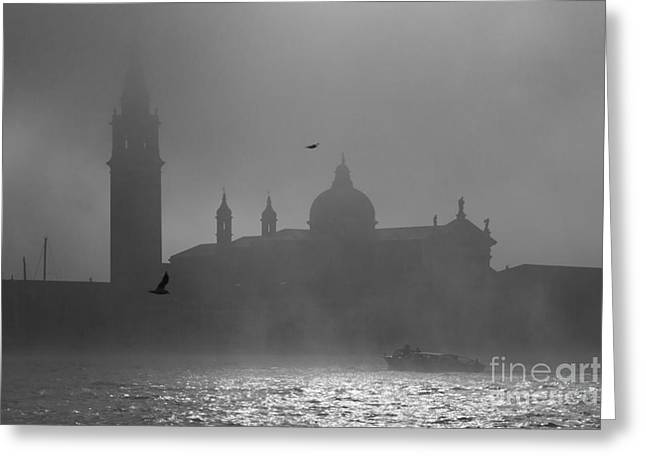 Nebbia Greeting Cards - Mysterious Venice Greeting Card by Matteo Colombo