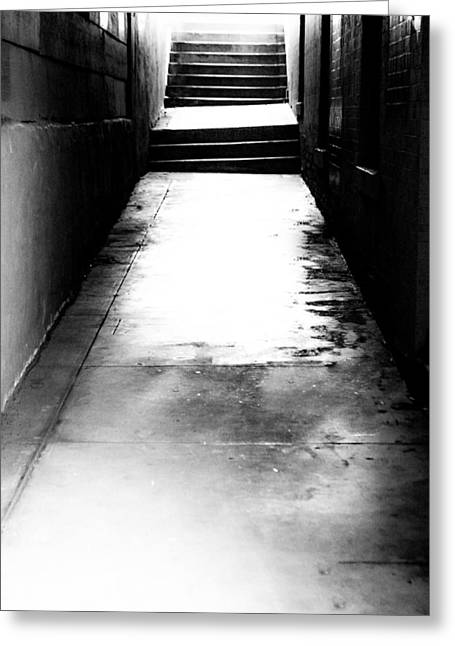 Midday.light Greeting Cards - Mysterious Walkway Greeting Card by Shelby  Young