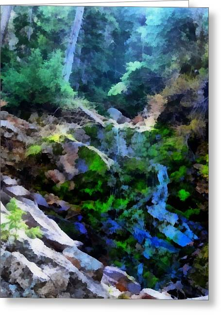 National Mixed Media Greeting Cards - Mysterious Water Wonderland Greeting Card by Dan Sproul