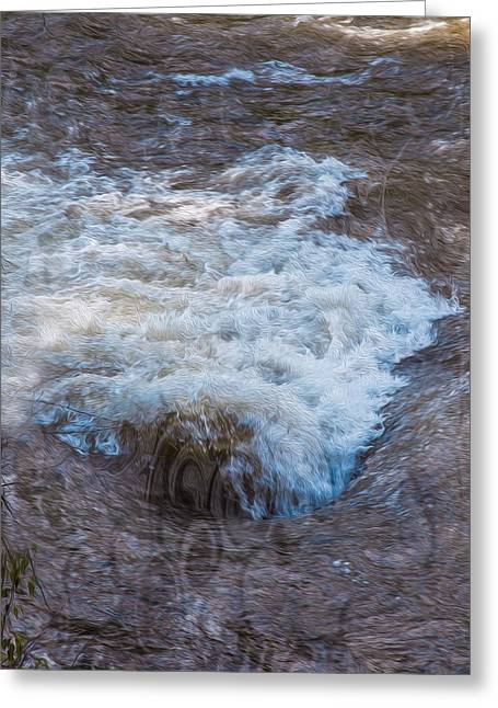 Mysterious Wave Greeting Card by Omaste Witkowski