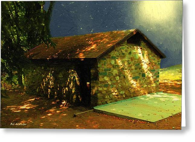 Mystery Cottage Greeting Card by RC DeWinter