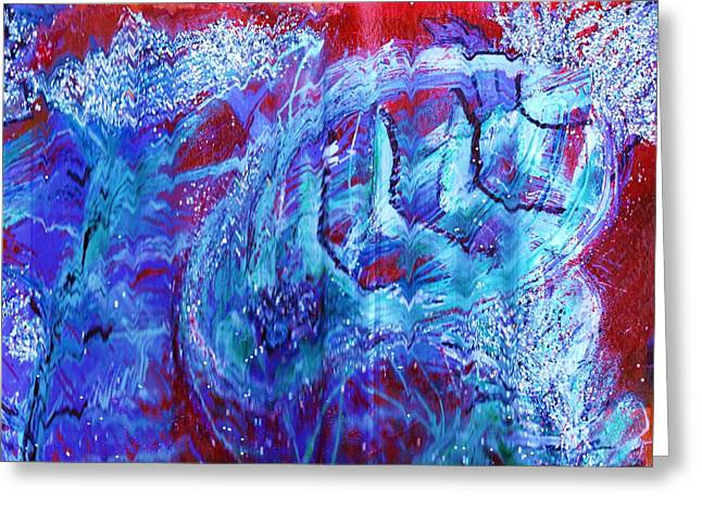 Mystery Fish Under The Red Sea Greeting Card by Anne-Elizabeth Whiteway