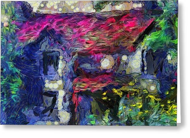 Interior Still Life Digital Greeting Cards - Mystery House Greeting Card by Yury Malkov