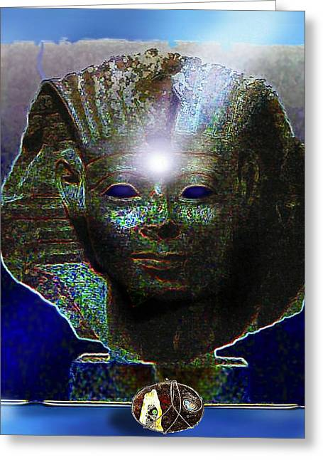Pharaoh Mixed Media Greeting Cards - Mystery of Egypt Greeting Card by Hartmut Jager
