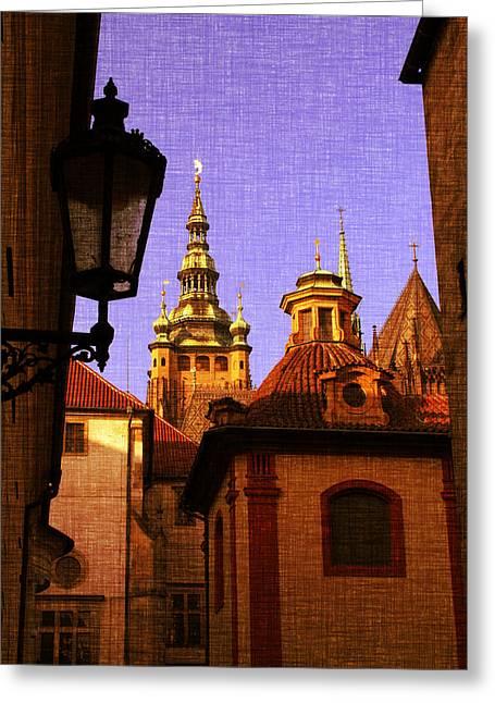 Mystery Prague Greeting Card by Katerina Lesslerova