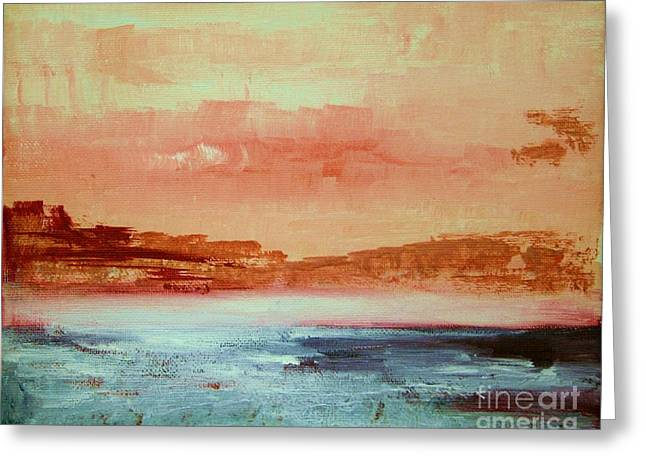 Ledge Greeting Cards - Mystery waters Greeting Card by Julie Lueders