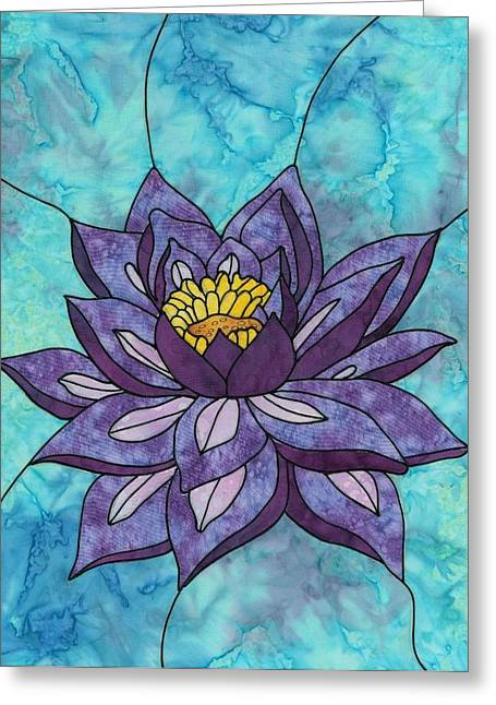 Glass Wall Tapestries - Textiles Greeting Cards - Mystic Beauty Greeting Card by Sue Brehm