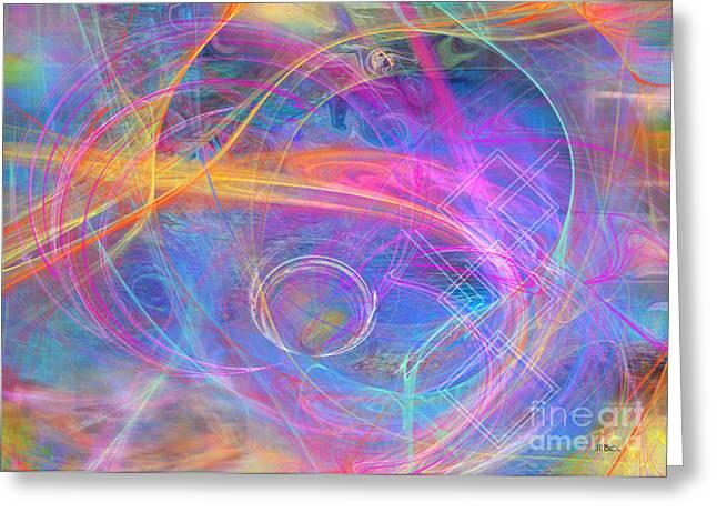 Robert R Mixed Media Greeting Cards - Mystic Beginning Greeting Card by John Robert Beck