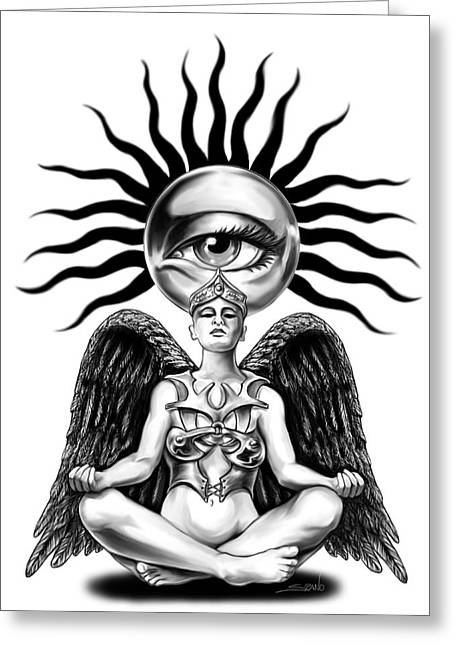 Spano Greeting Cards - Mystic Contemplation by Spano Greeting Card by Michael Spano