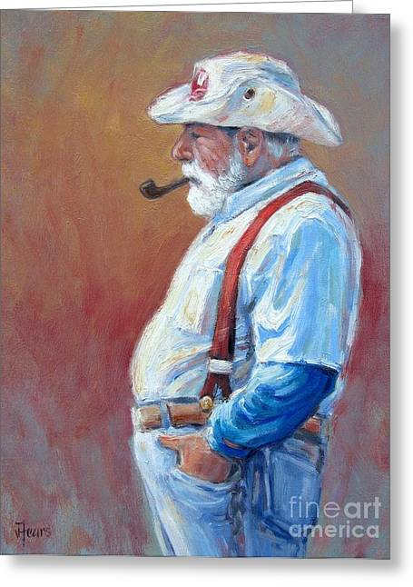 Mystic Ct Sea Captain Greeting Card by Vickie Fears
