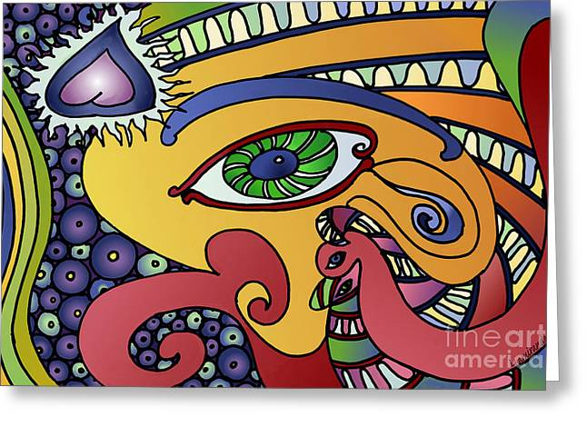 Mystic Art Greeting Cards - Mystic Eye Greeting Card by Louise Lamirande