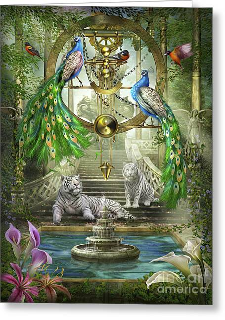 Maidens Greeting Cards - Mystic Garden Greeting Card by Ciro Marchetti