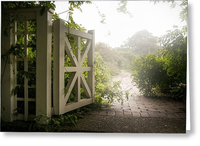 Gary Heller Greeting Cards - Mystic garden - A wonderful and magical place Greeting Card by Gary Heller