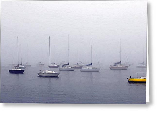 Boats On Water Greeting Cards - Mystic Harbor Greeting Card by Mike Nellums