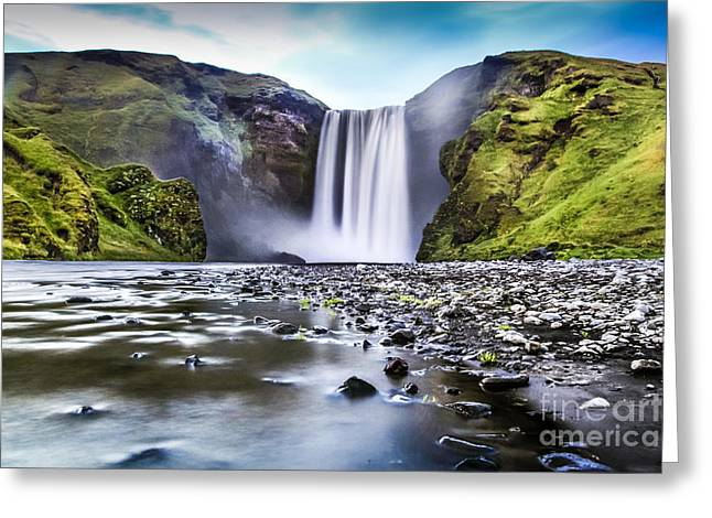 White River Greeting Cards - Mystic Iceland Greeting Card by JR Photography