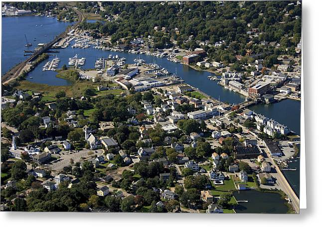 Mystic, Maine Greeting Card by Dave Cleaveland