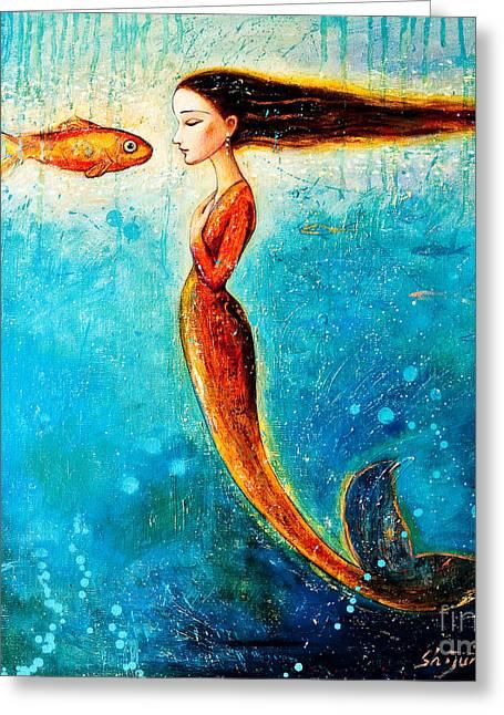 Mystic Mermaid II Greeting Card by Shijun Munns
