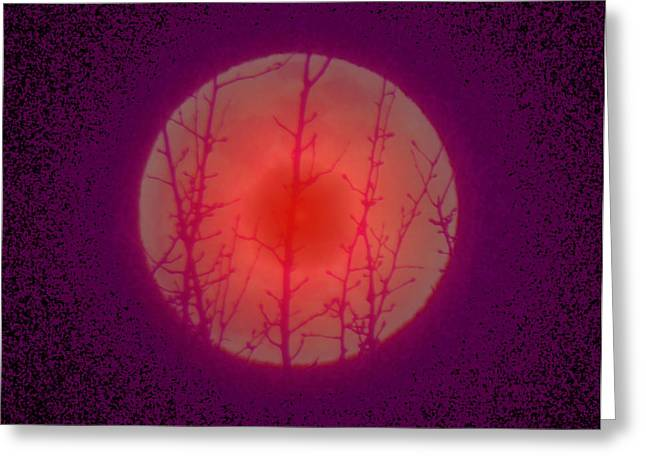 Passover Moon Greeting Cards - Mystic Moon  Greeting Card by Anastasia  Ealy