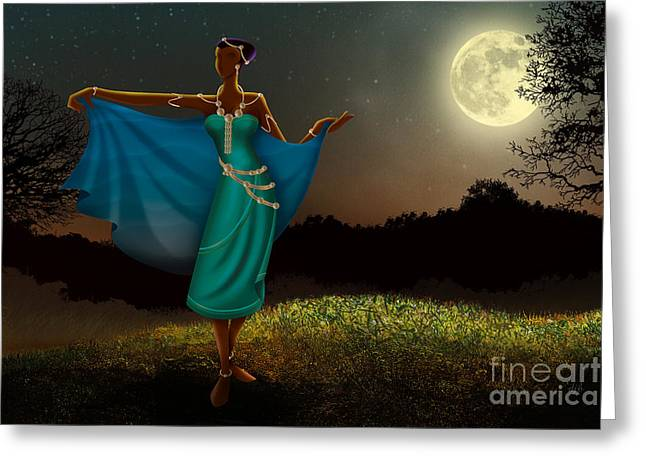 Pause Greeting Cards - Mystic Moonlight V1 Greeting Card by Bedros Awak