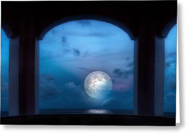 Moonrise Greeting Cards - Mystic Moonrise Greeting Card by Mark Andrew Thomas