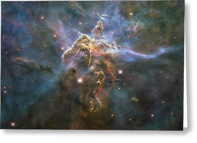 Hubble Telescope Images Greeting Cards - Mystic Mountain Greeting Card by Eric Glaser
