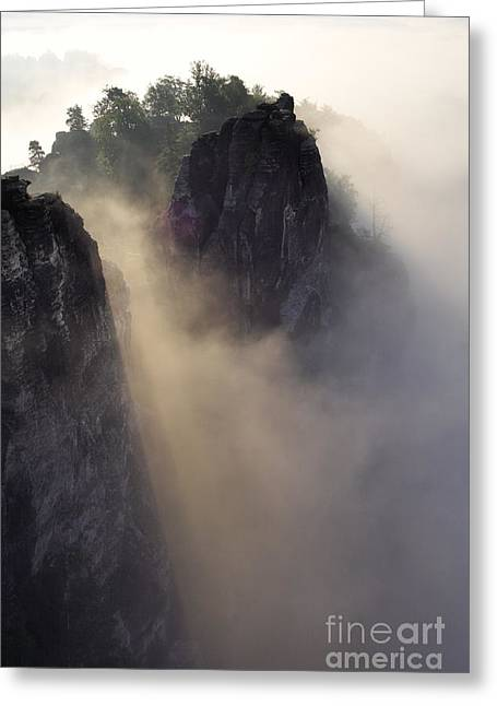Bastion Greeting Cards - Mystic Mountains Greeting Card by Jana Behr