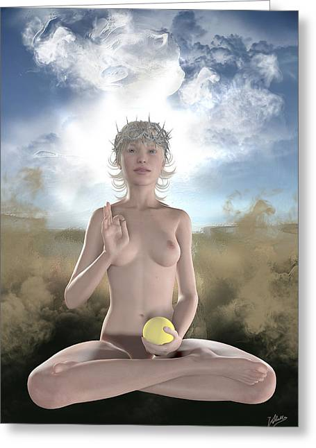 Female. Sensitivity Greeting Cards - Mystic pagan Greeting Card by Joaquin Abella