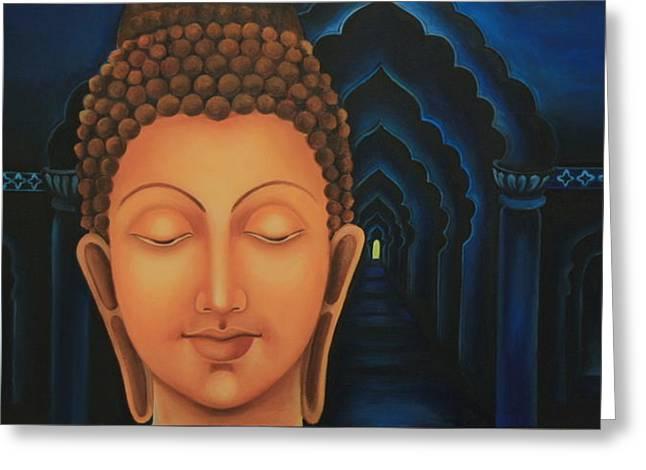 Liberation Greeting Cards - Mystic Greeting Card by Priyami Kotadia