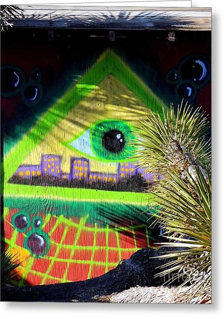 Bayonet Greeting Cards - Mystic Pyramid Greeting Card by Vicki Buckler