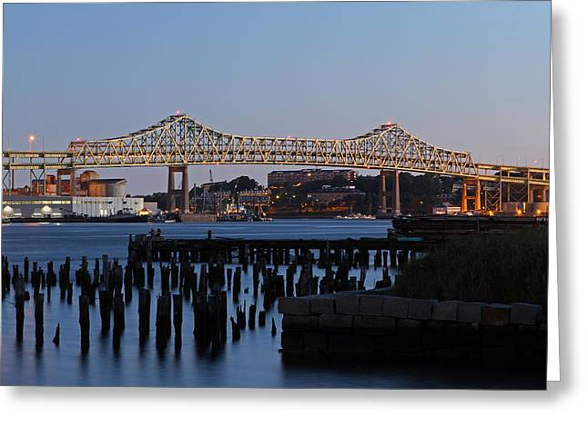 Mystic River Bridge Greeting Card by Juergen Roth